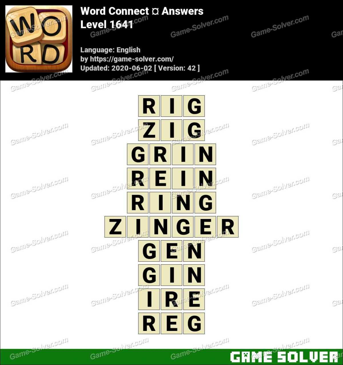 Word Connect Level 1641 Answers