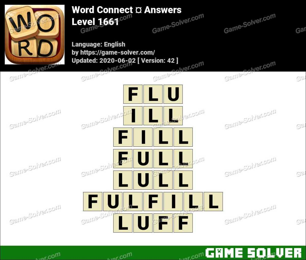 Word Connect Level 1661 Answers