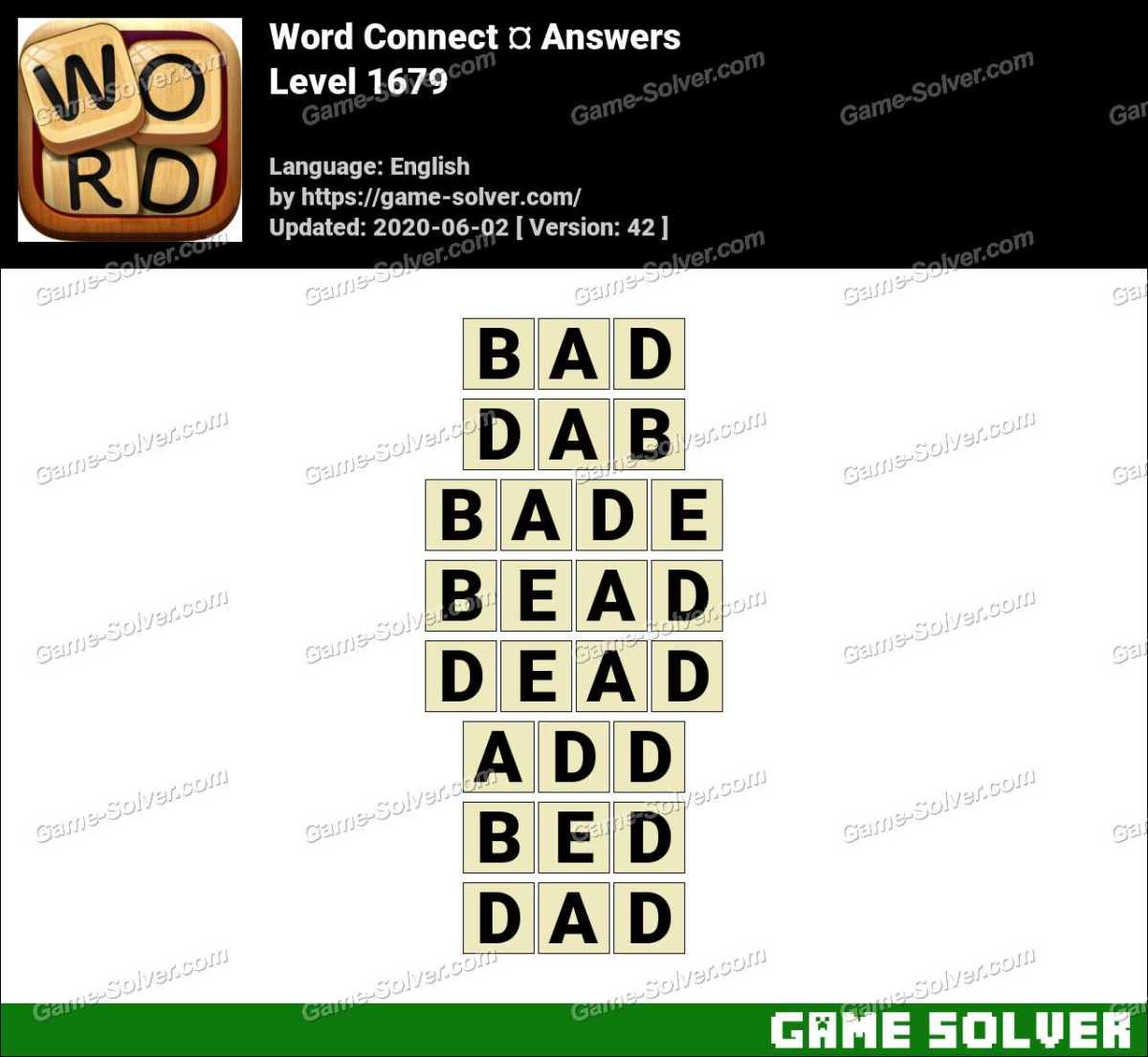 Word Connect Level 1679 Answers