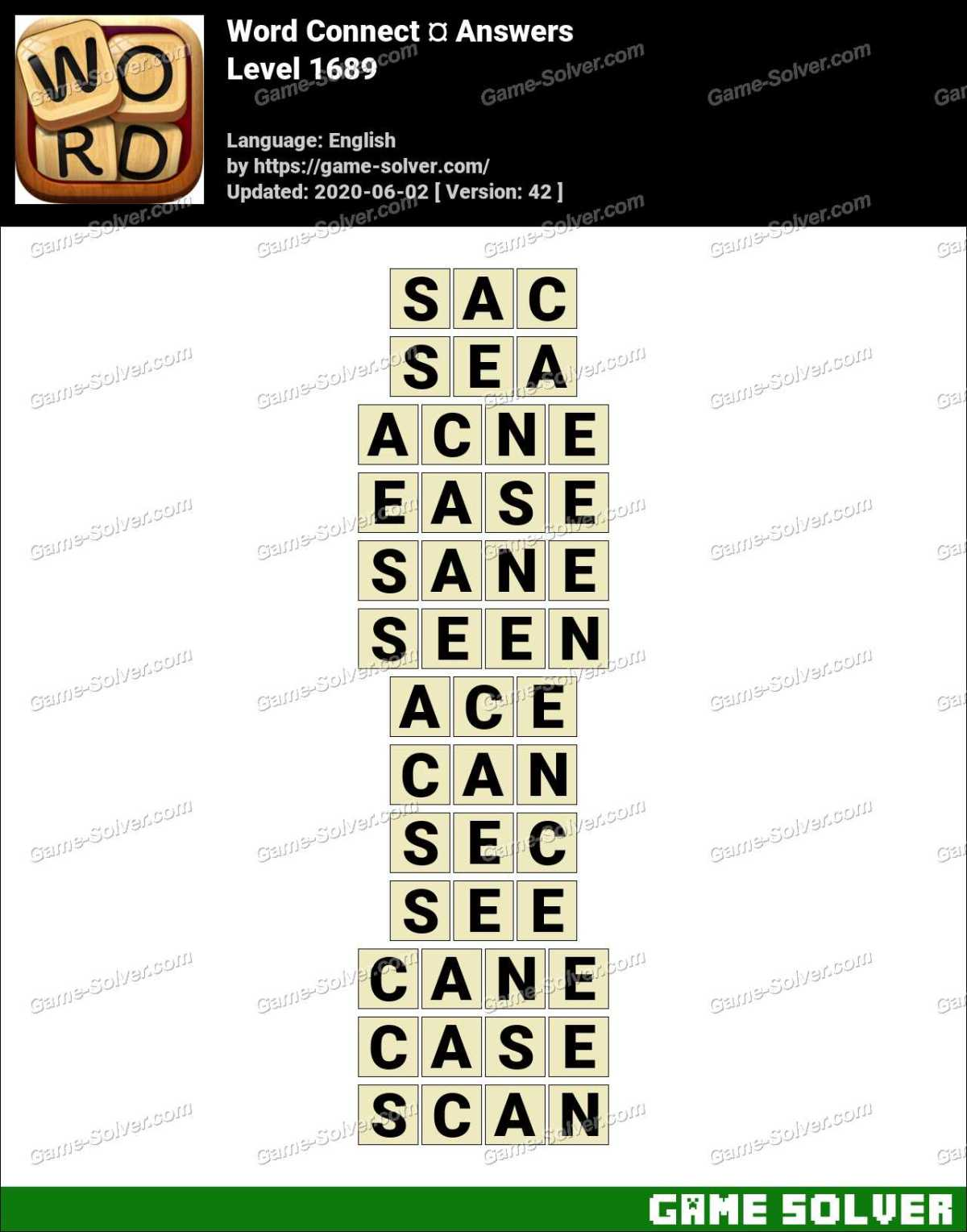 Word Connect Level 1689 Answers