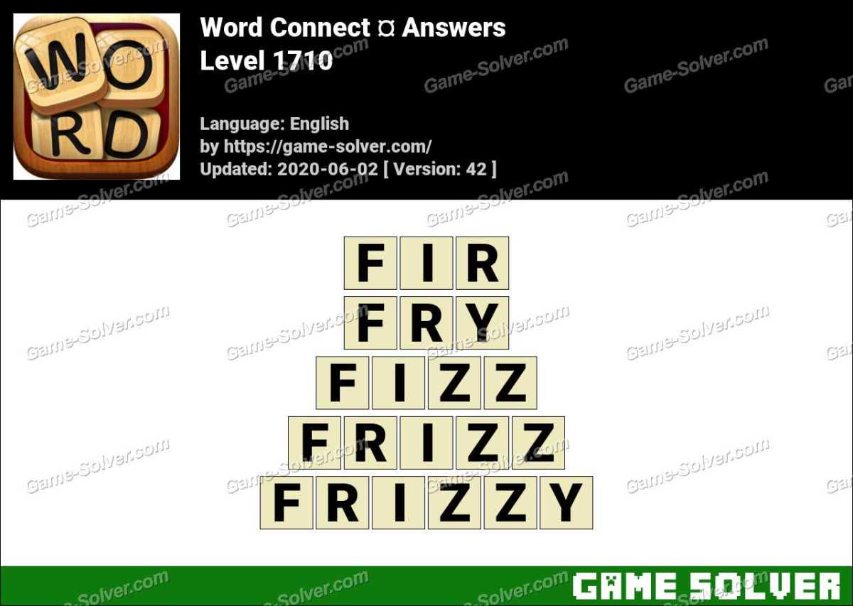 Word Connect Level 1710 Answers