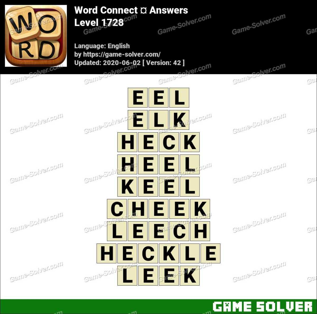 Word Connect Level 1728 Answers