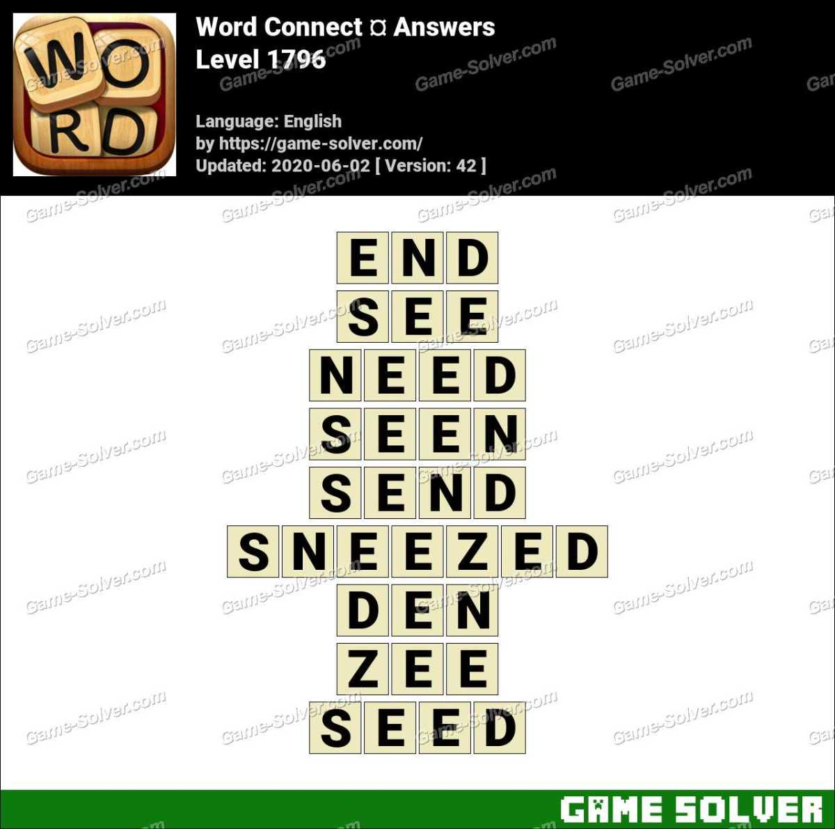Word Connect Level 1796 Answers