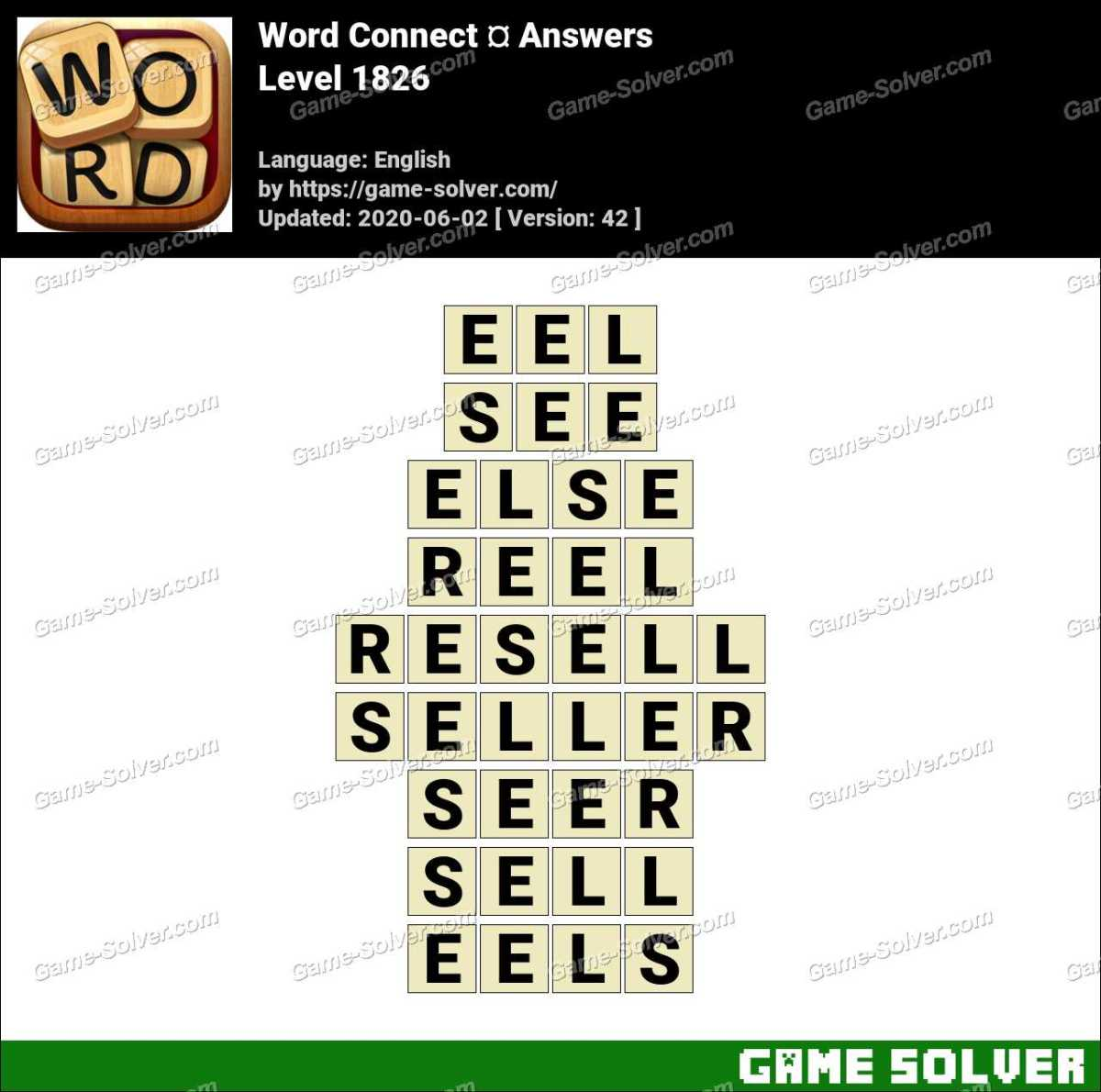 Word Connect Level 1826 Answers