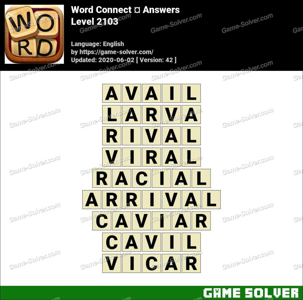 Word Connect Level 2103 Answers