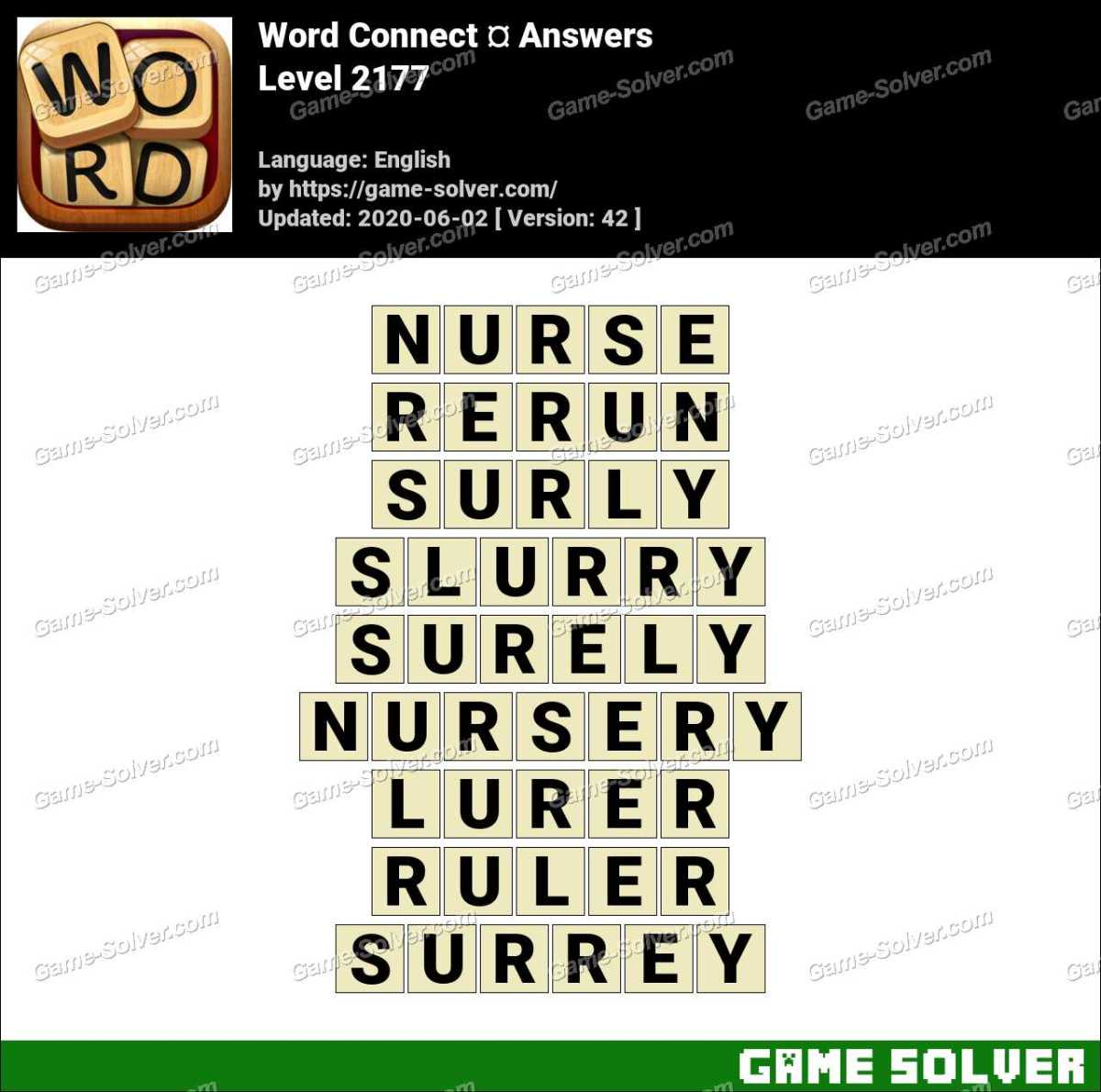 Word Connect Level 2177 Answers