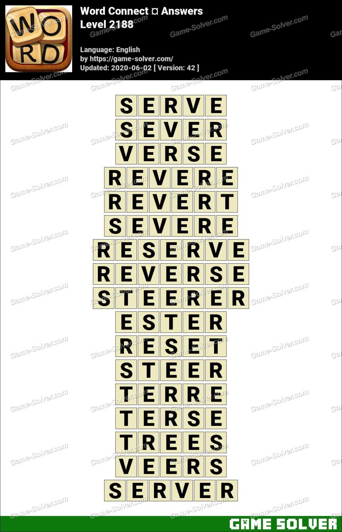Word Connect Level 2188 Answers