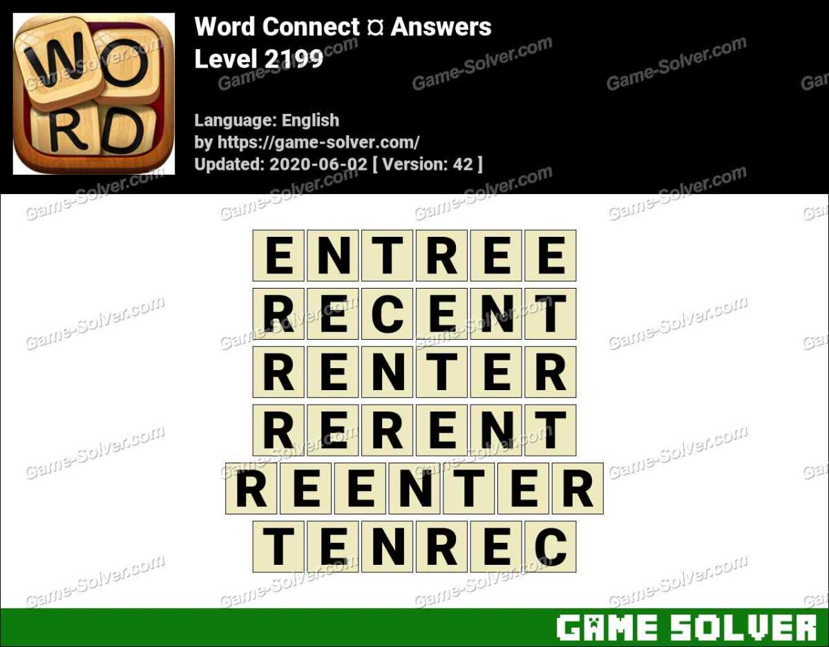Word Connect Level 2199 Answers