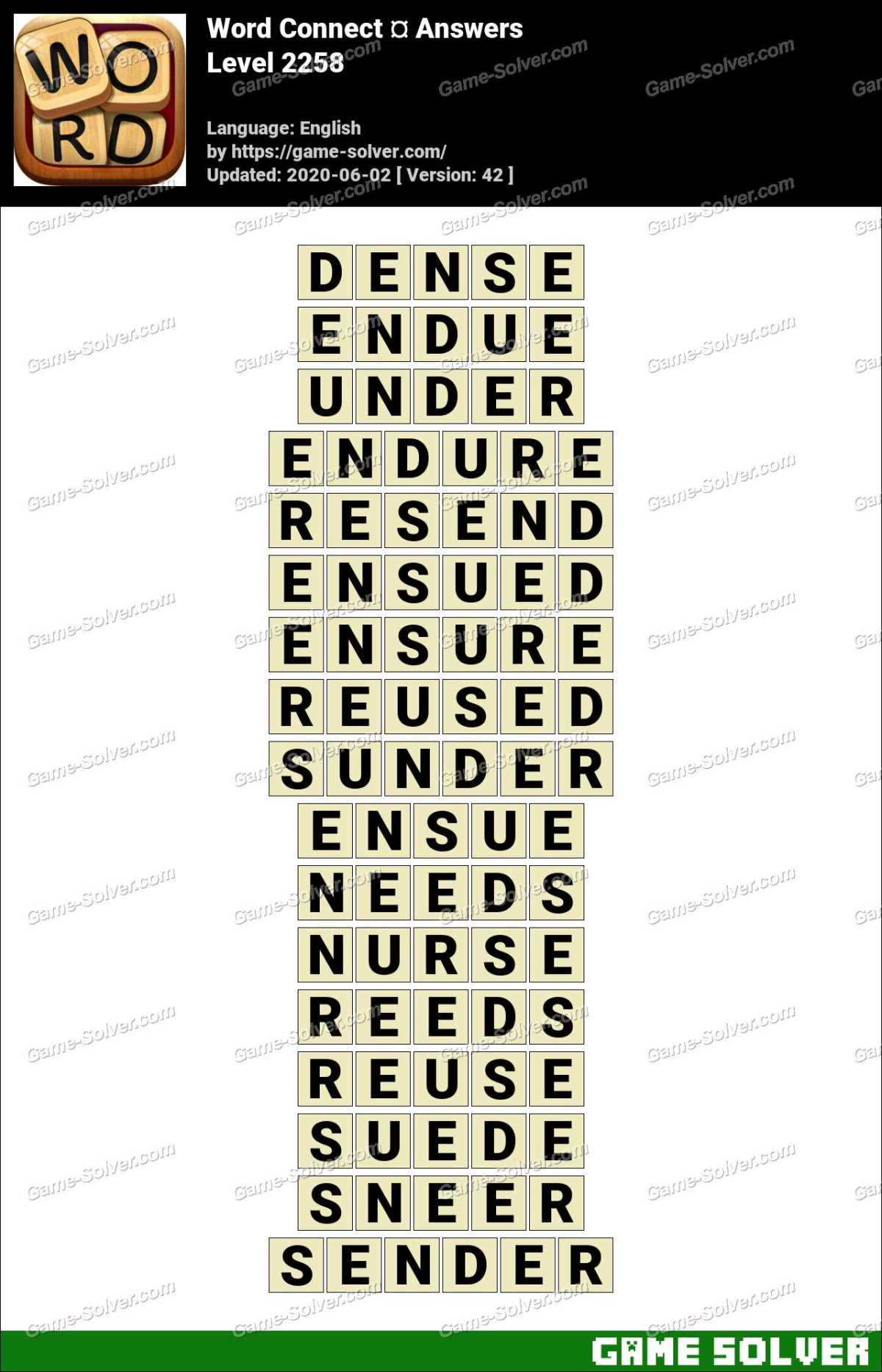 Word Connect Level 2258 Answers