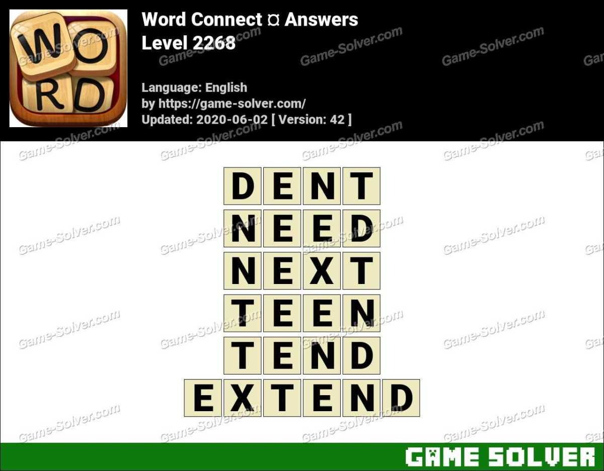 Word Connect Level 2268 Answers