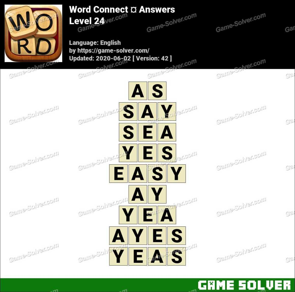 Word Connect Level 24 Answers