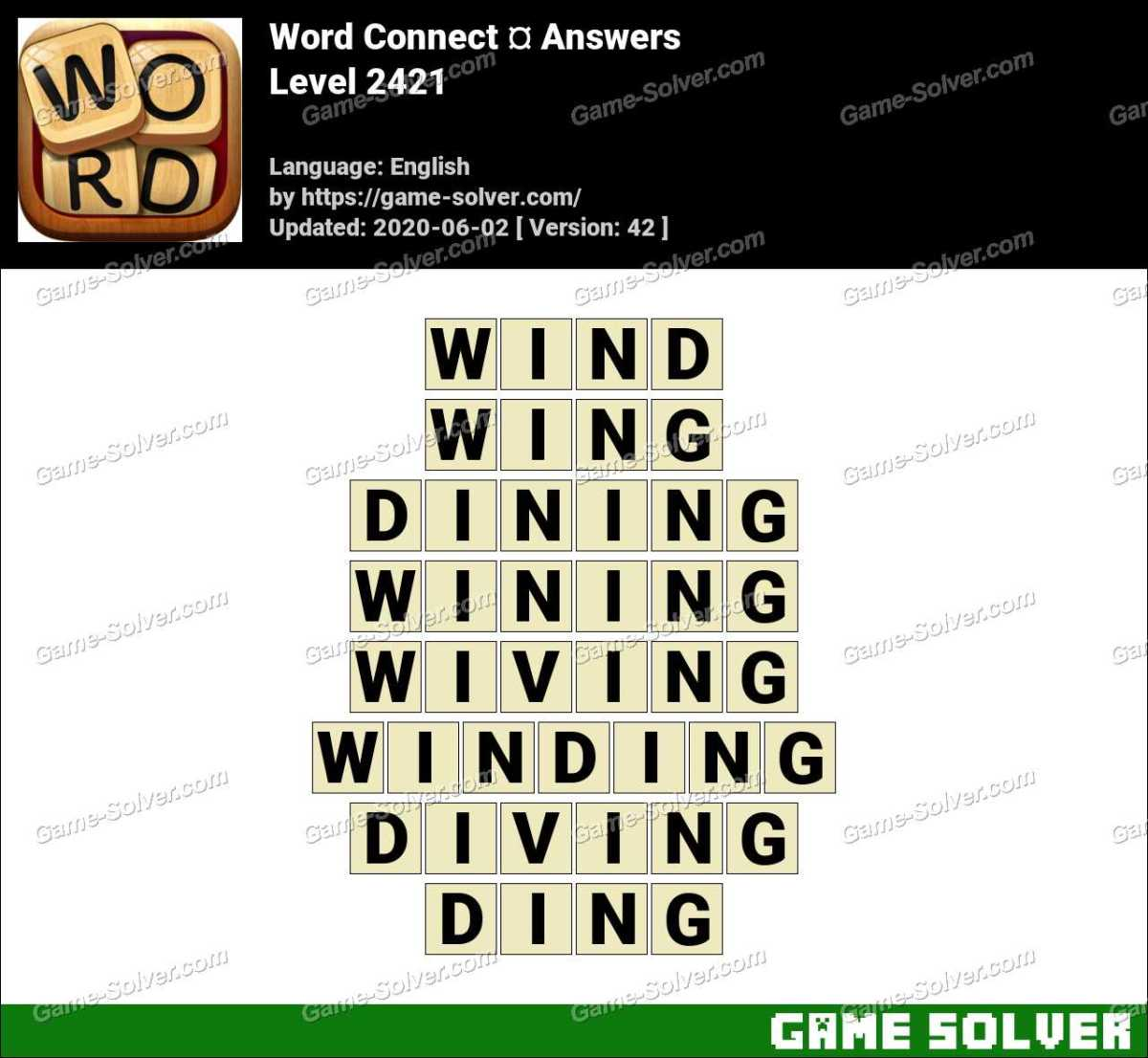 Word Connect Level 2421 Answers