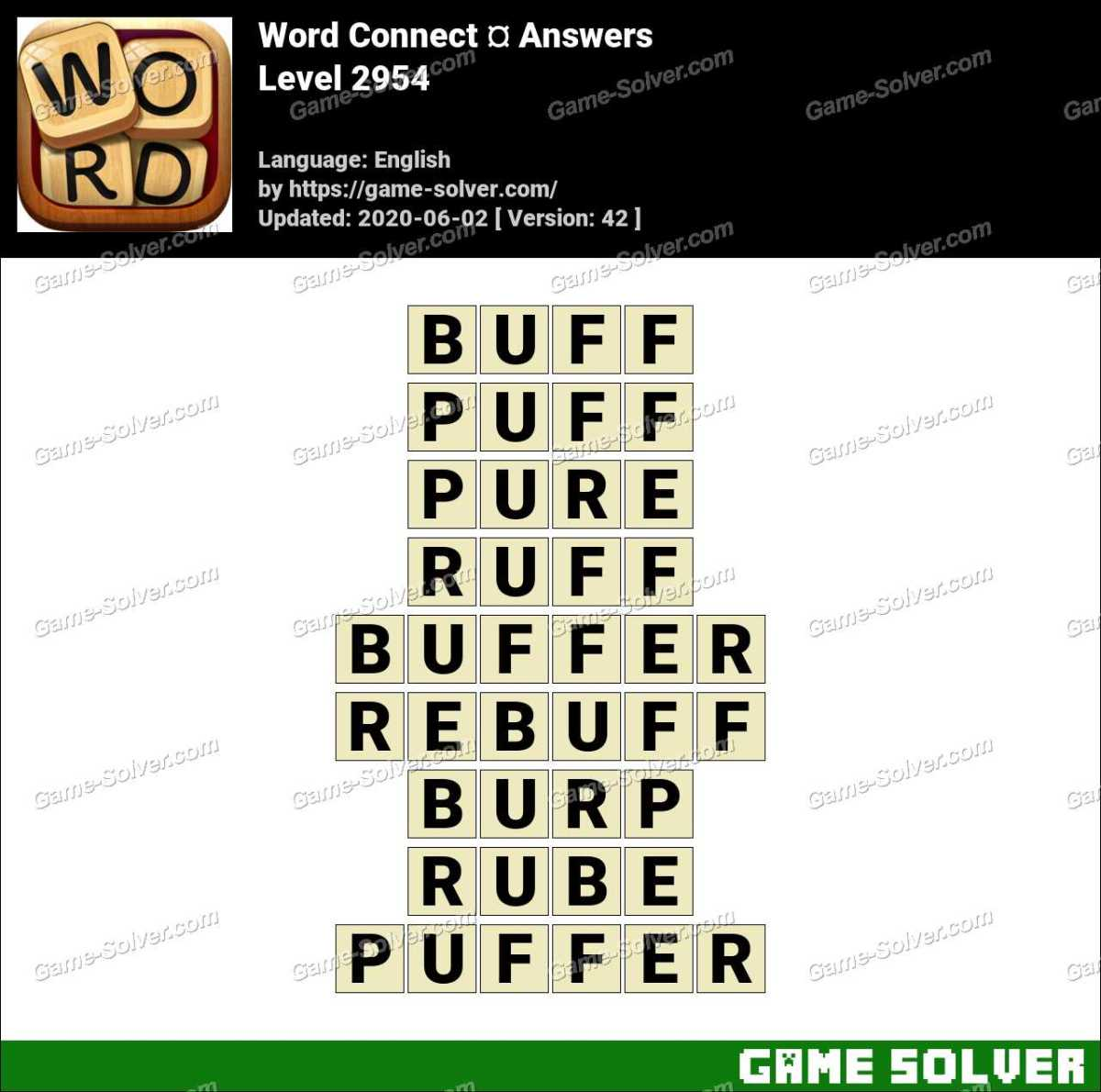 Word Connect Level 2954 Answers
