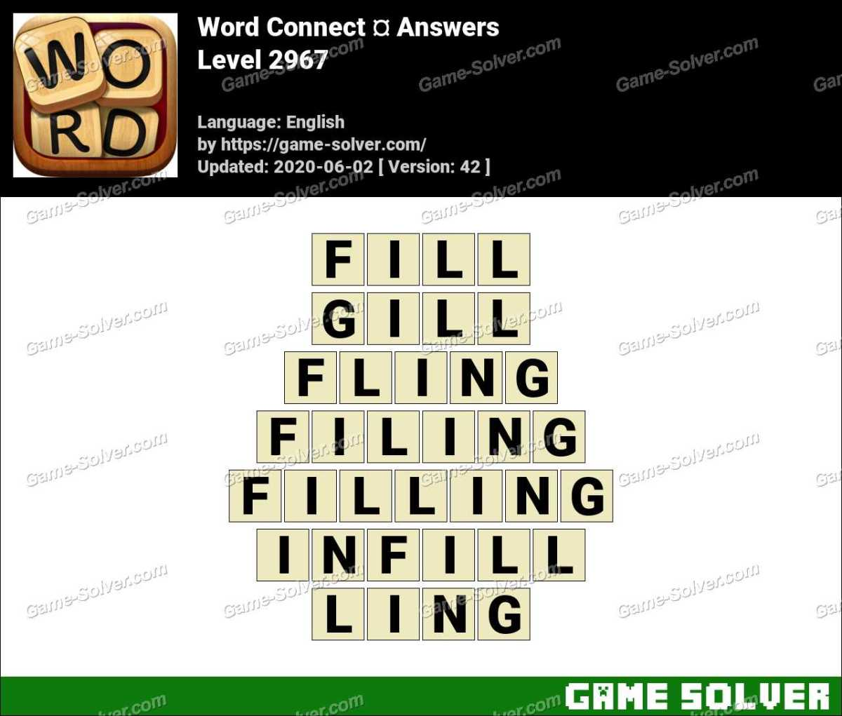 Word Connect Level 2967 Answers