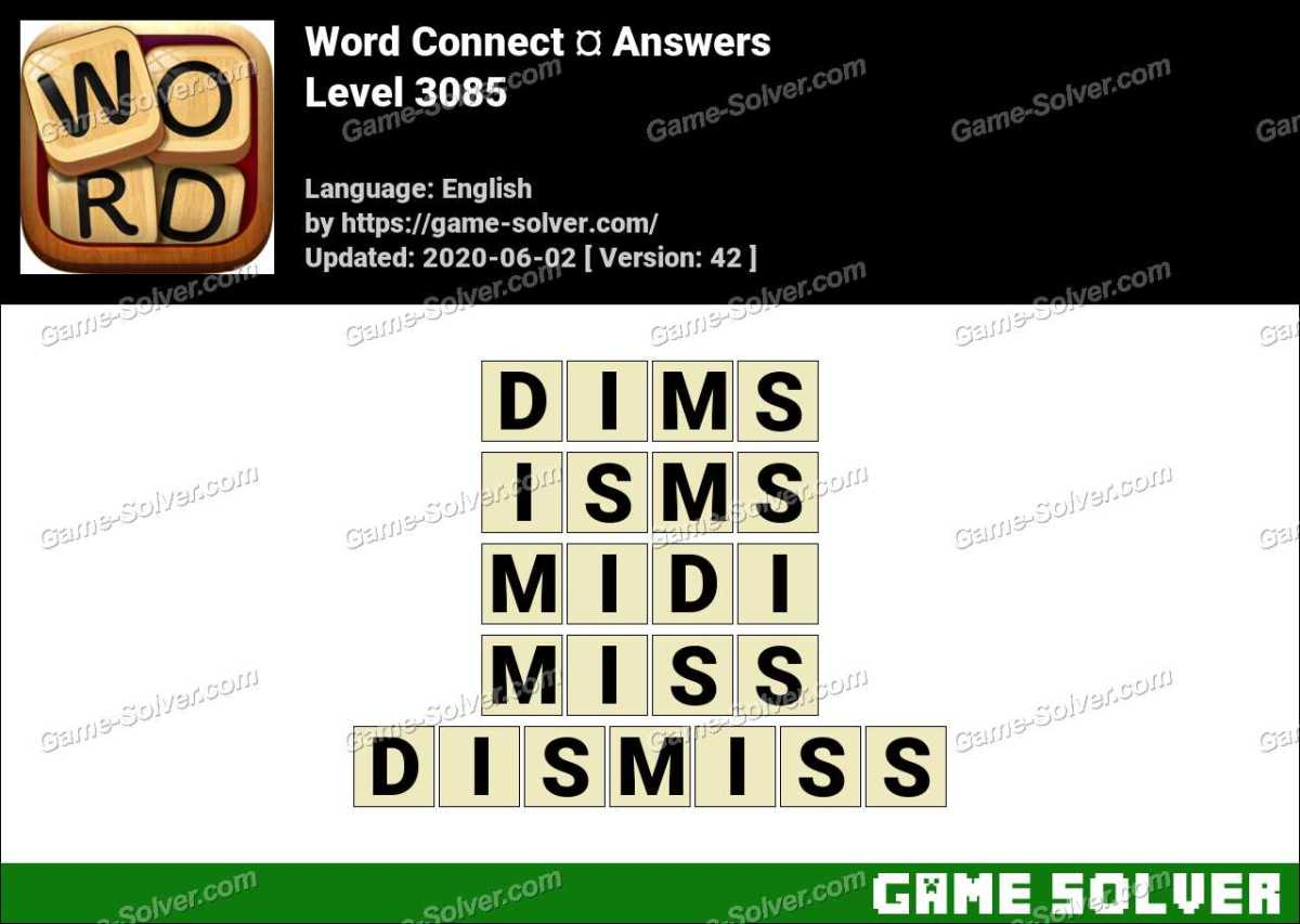 Word Connect Level 3085 Answers