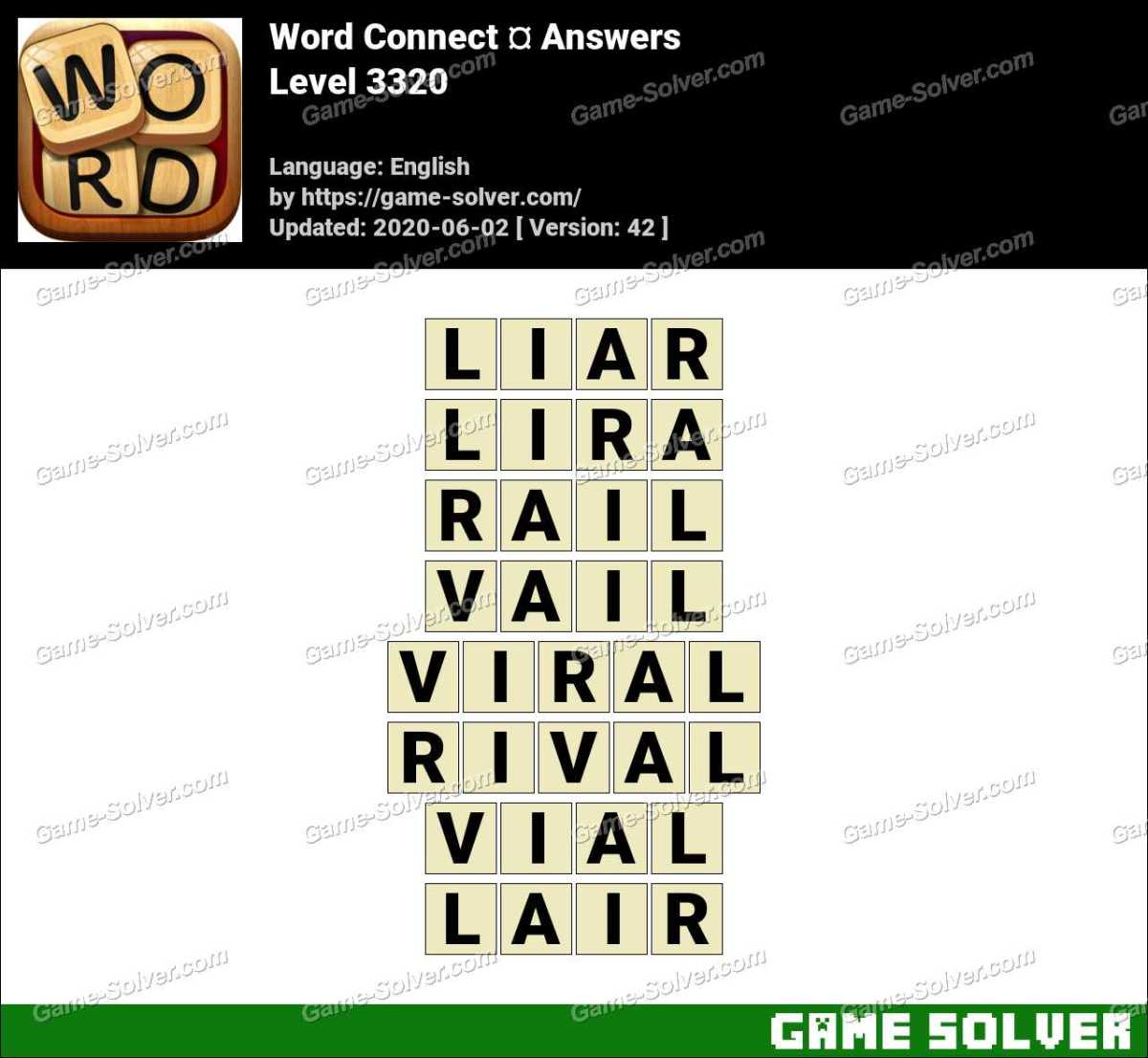 Word Connect Level 3320 Answers
