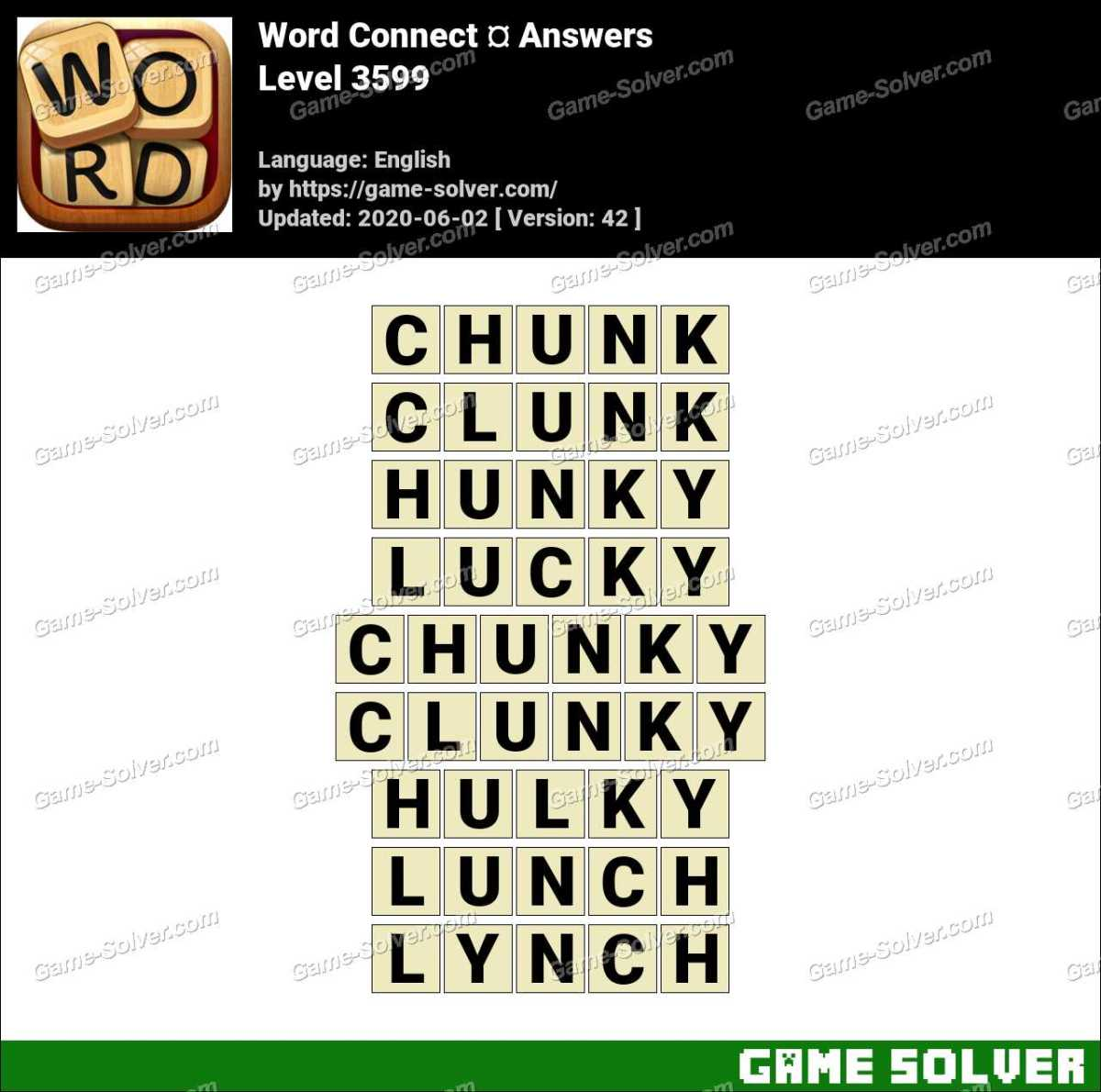 Word Connect Level 3599 Answers