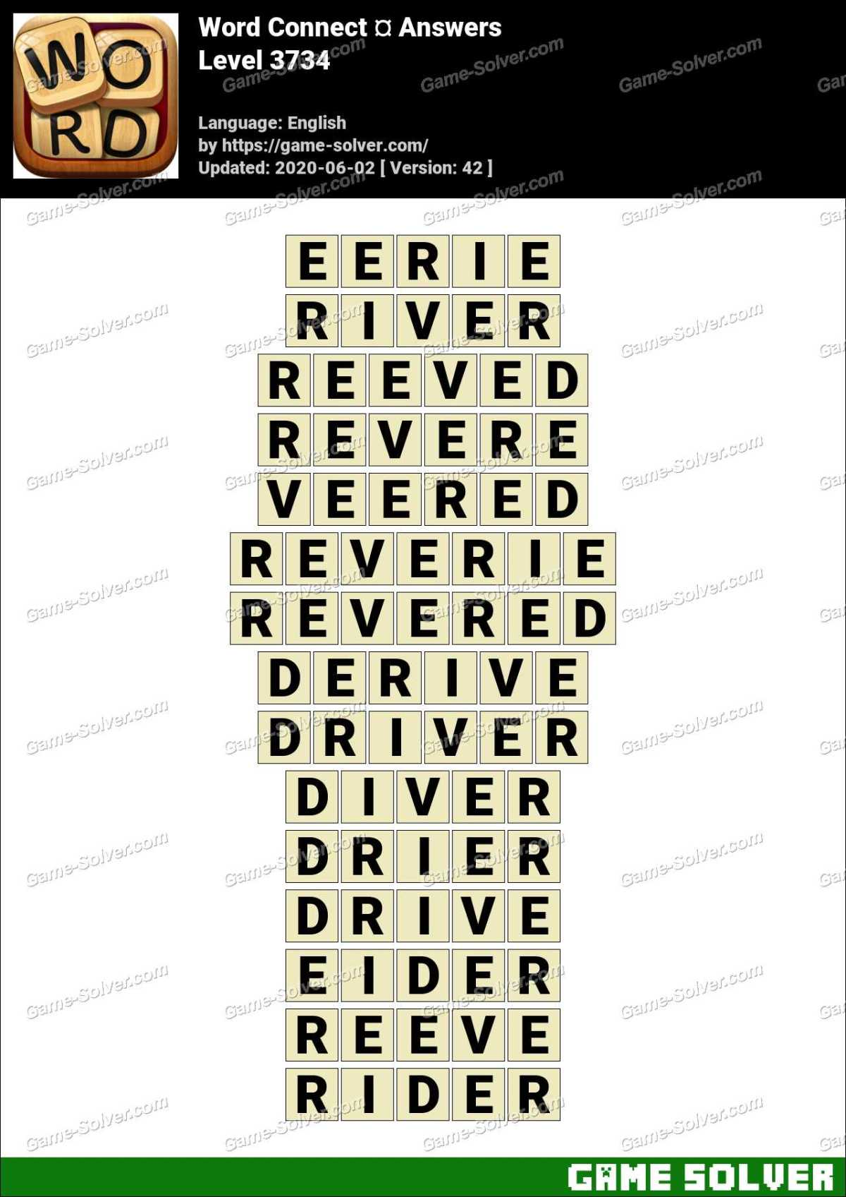 Word Connect Level 3734 Answers