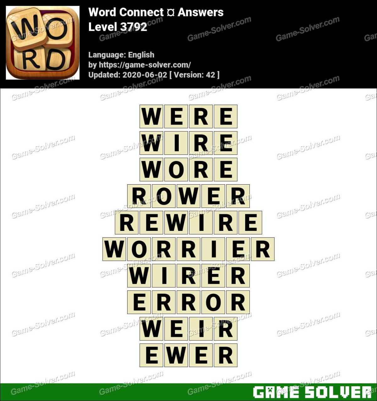 Word Connect Level 3792 Answers