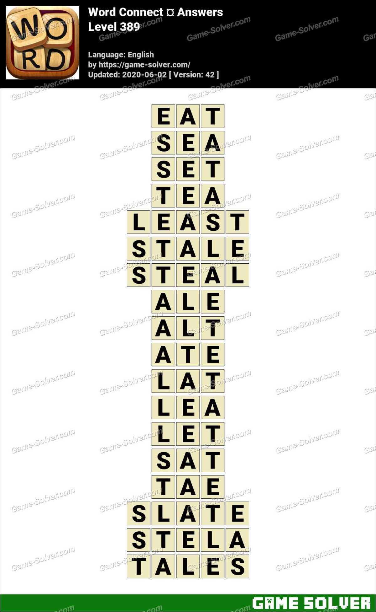 Word Connect Level 389 Answers