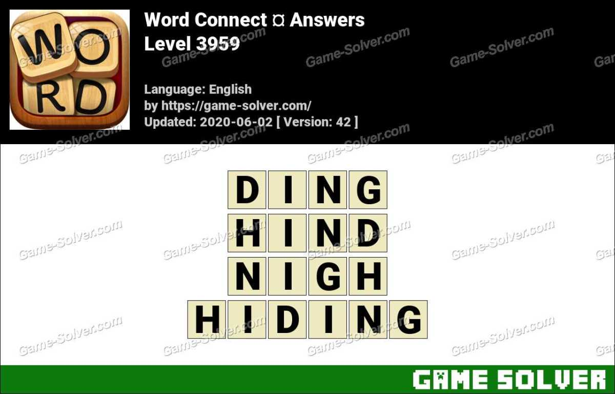 Word Connect Level 3959 Answers
