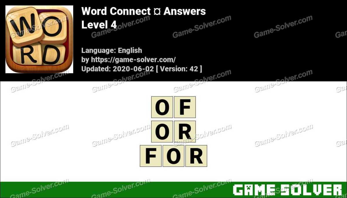 Word Connect Level 4 Answers