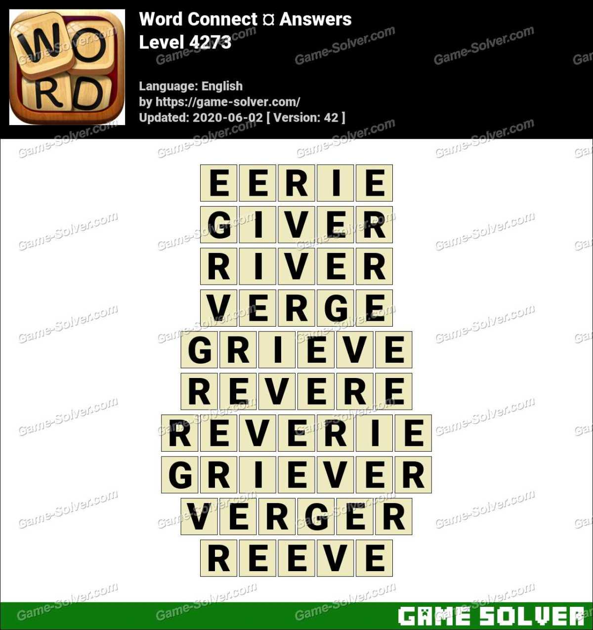 Word Connect Level 4273 Answers