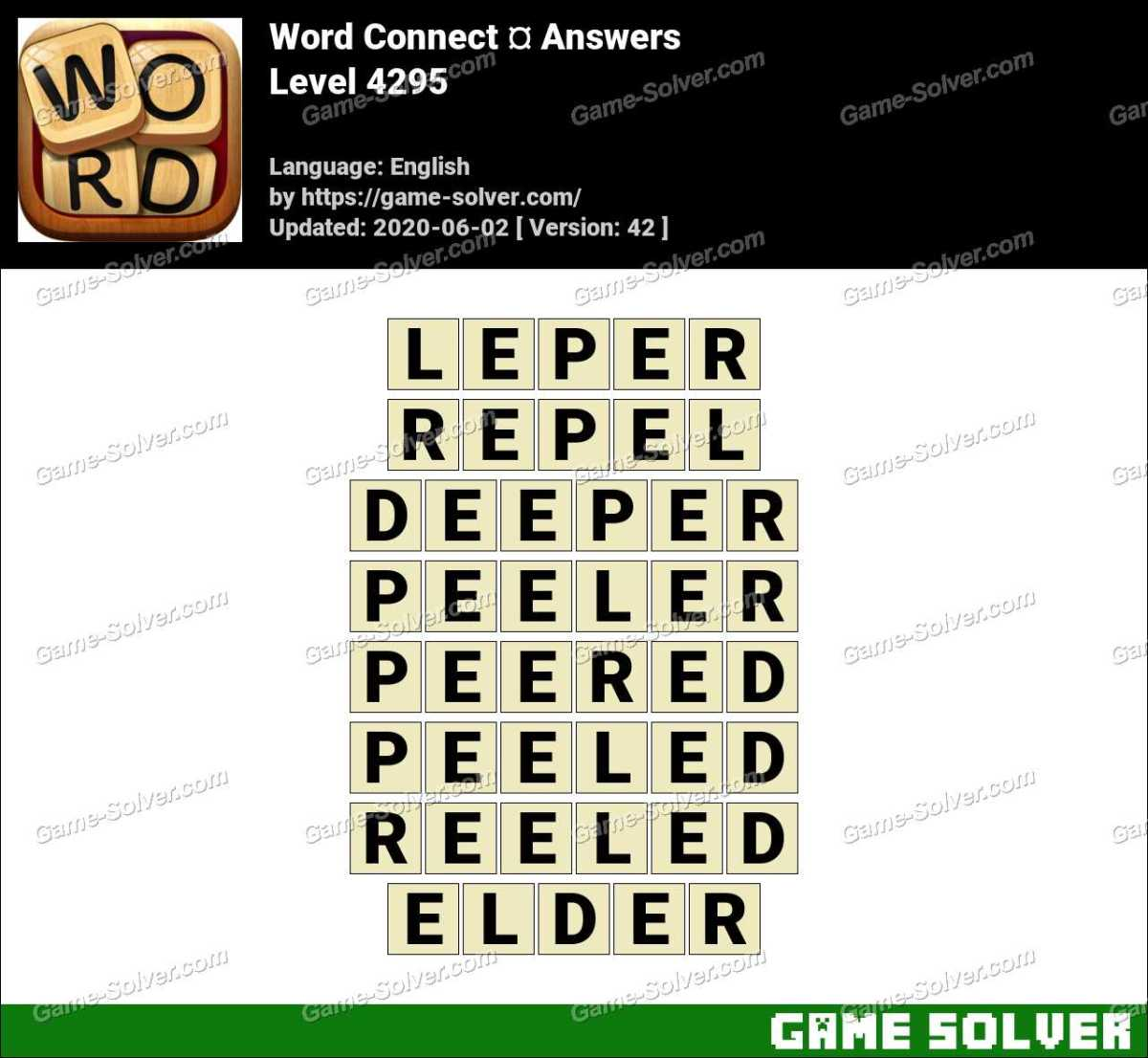 Word Connect Level 4295 Answers