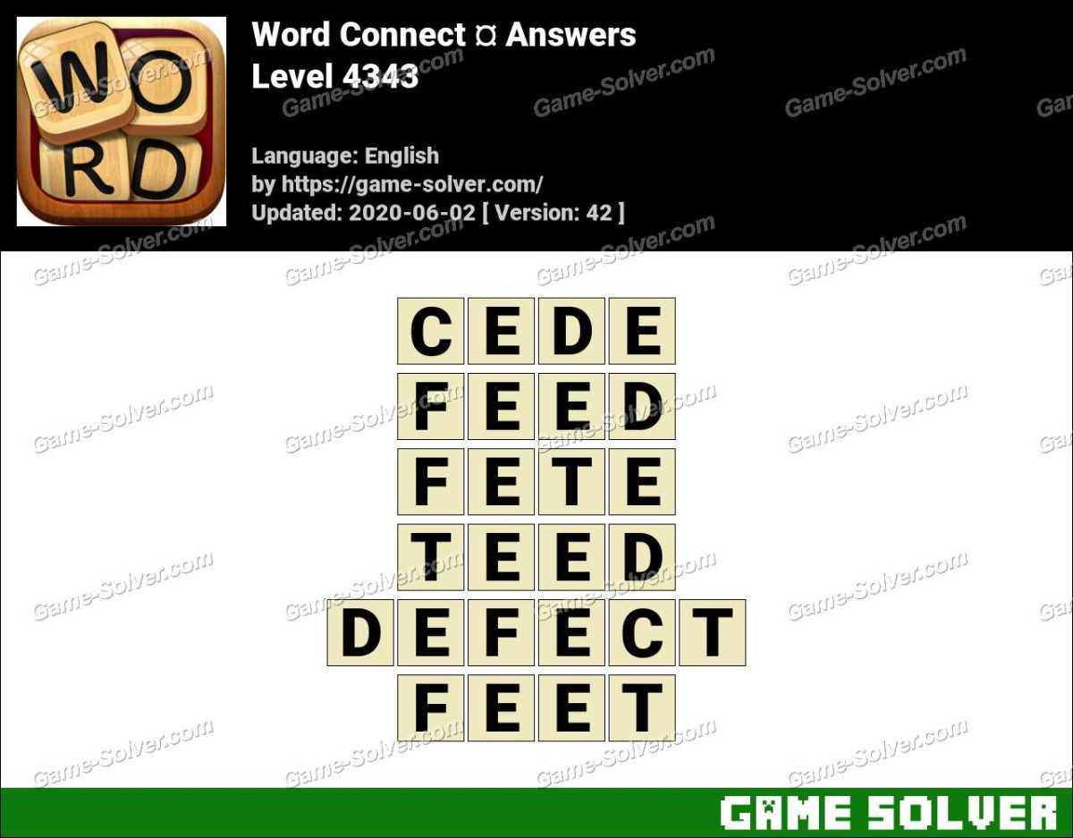 Word Connect Level 4343 Answers