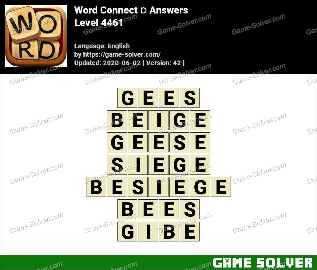 Word Connect Level 4461 Answers