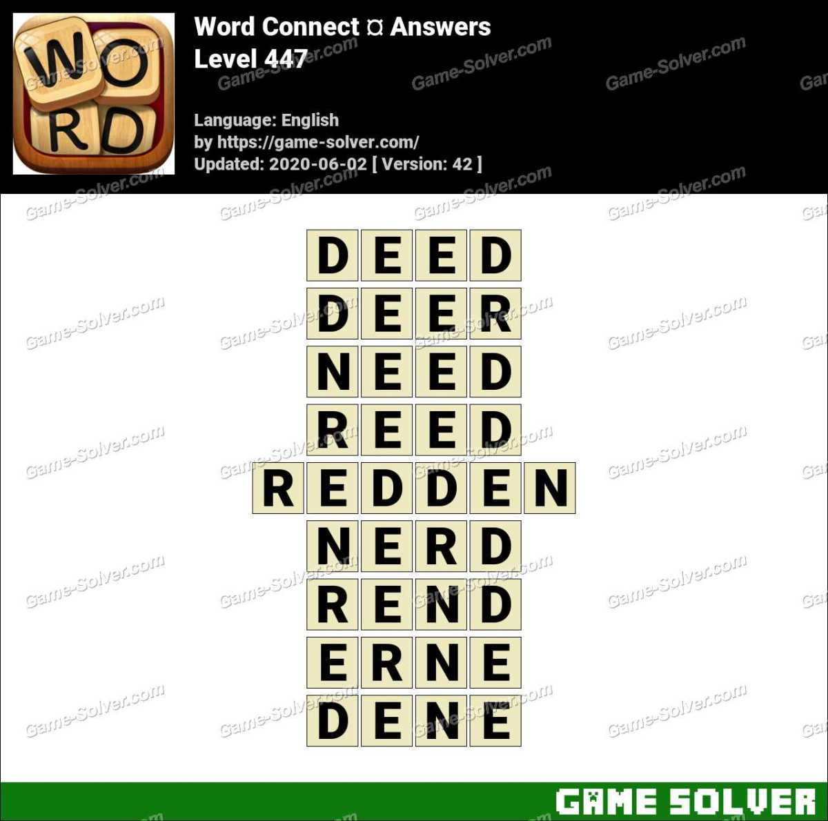 Word Connect Level 447 Answers
