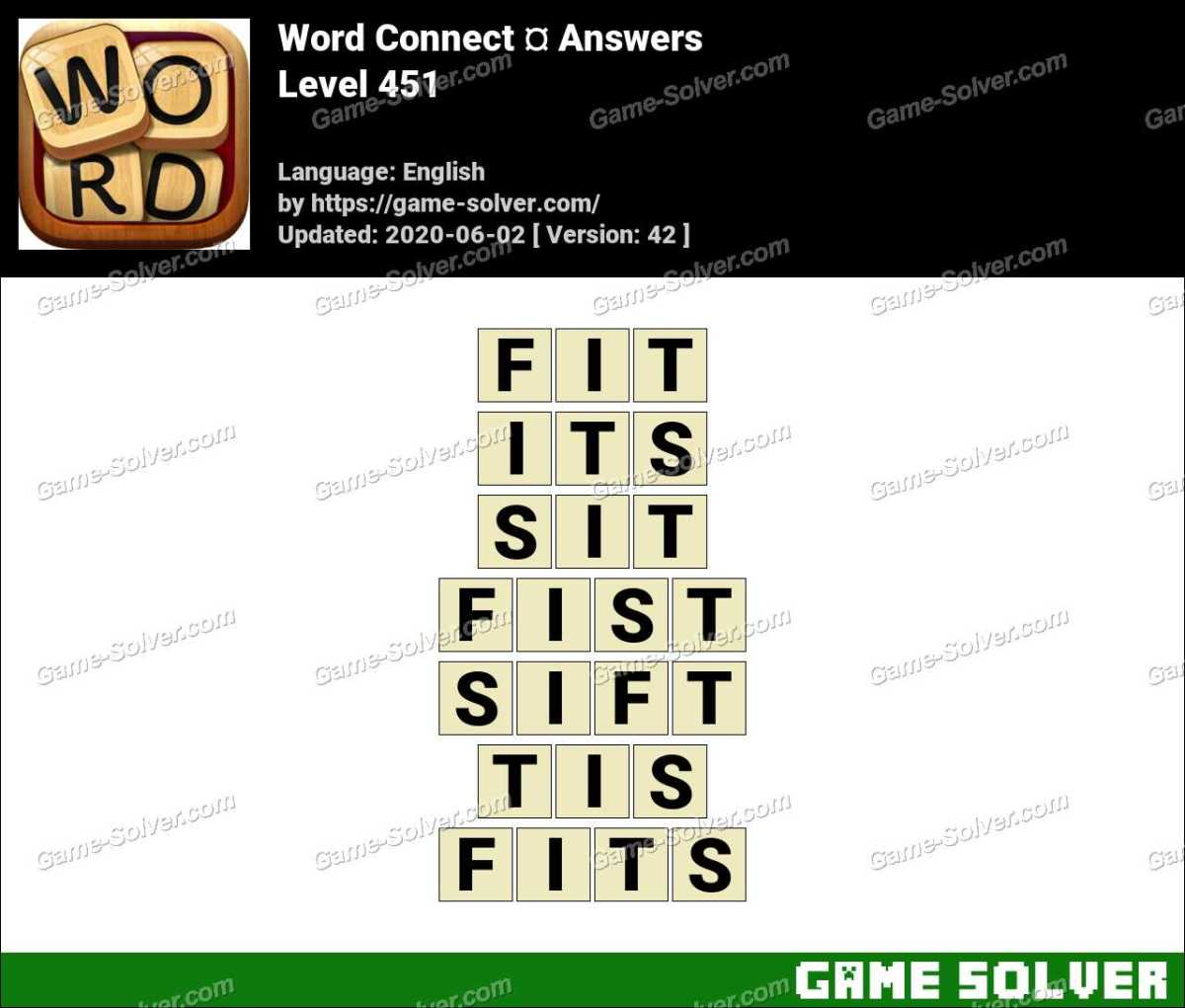 Word Connect Level 451 Answers