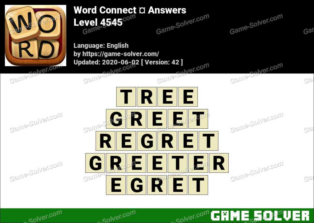 Word Connect Level 4545 Answers