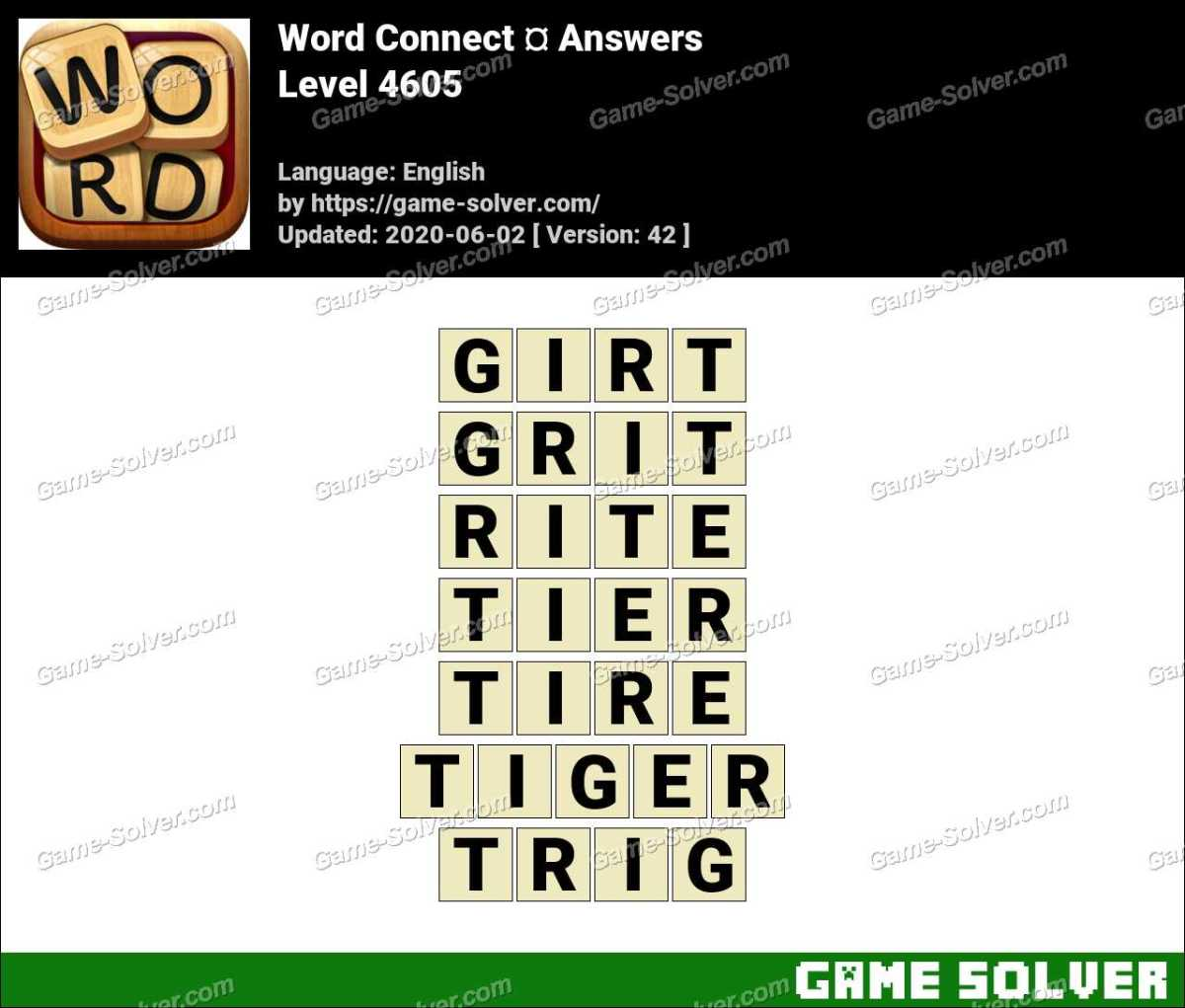 Word Connect Level 4605 Answers