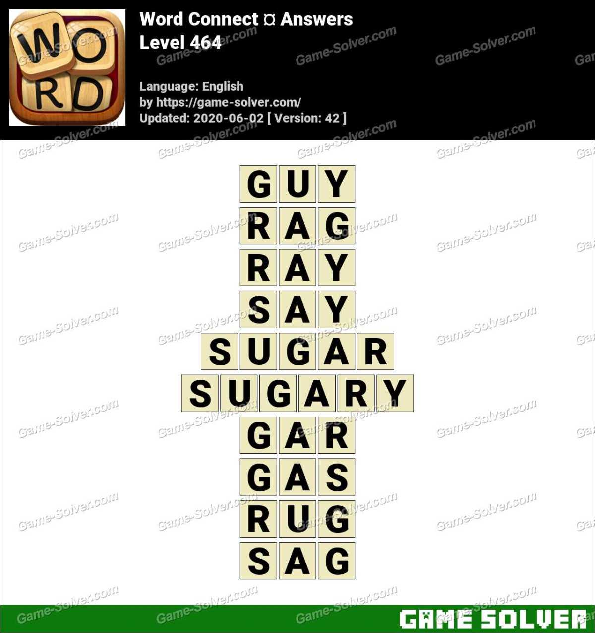 Word Connect Level 464 Answers