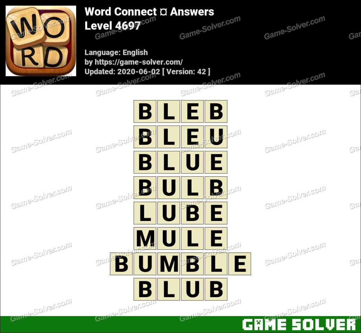 Word Connect Level 4697 Answers