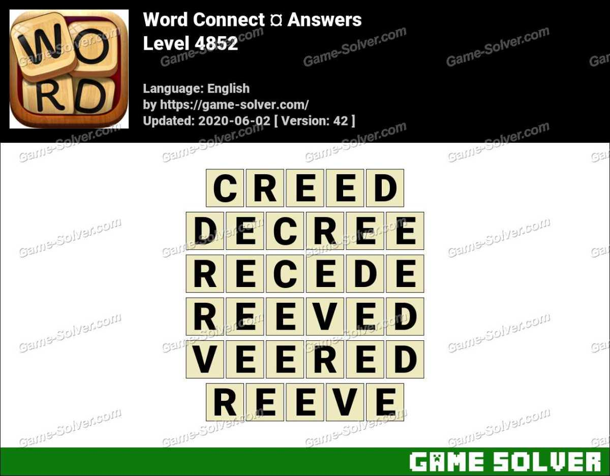 Word Connect Level 4852 Answers