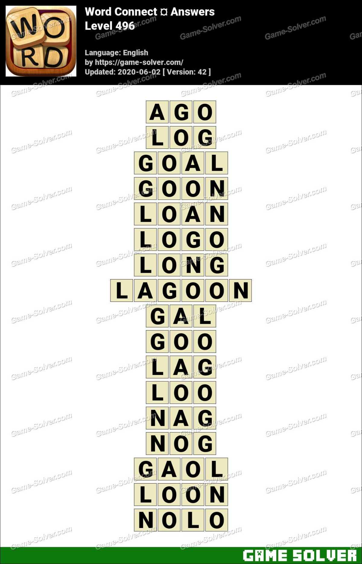 Word Connect Level 496 Answers