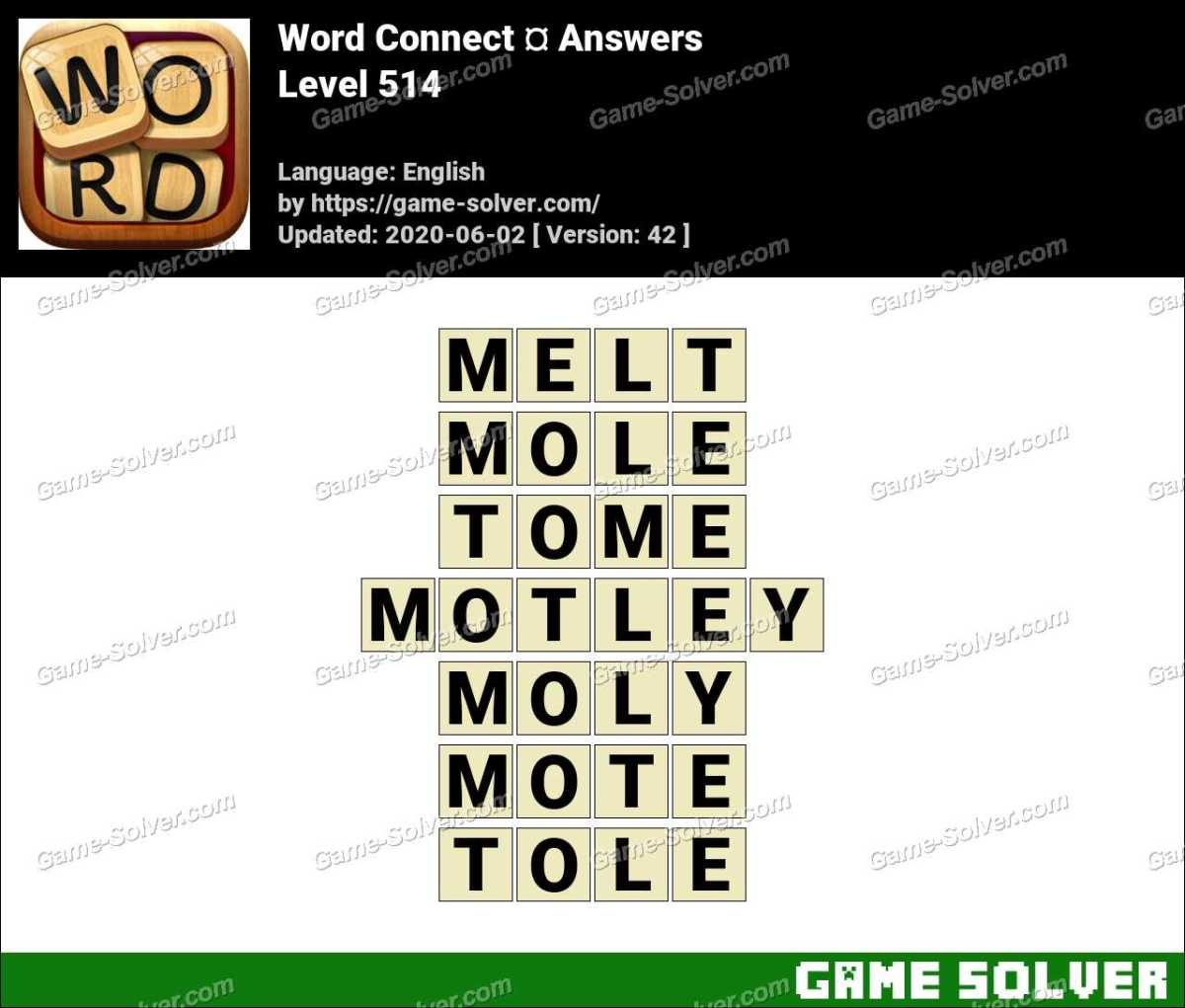 Word Connect Level 514 Answers