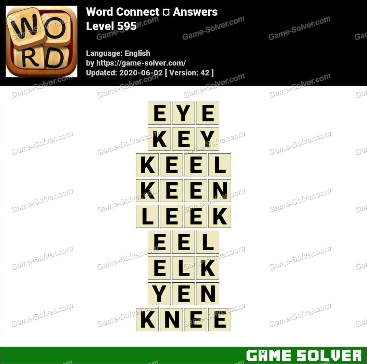 Word Connect Level 595 Answers