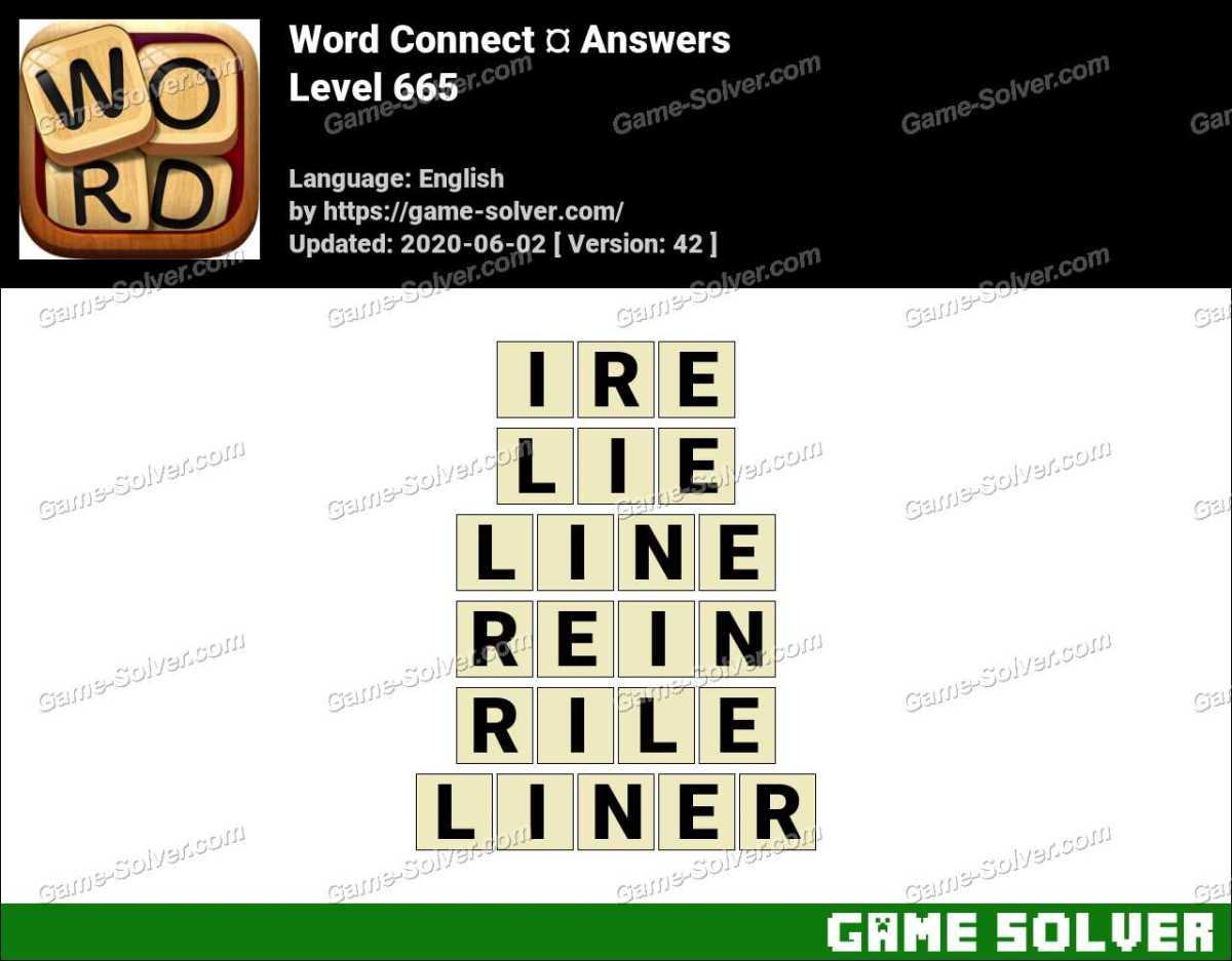 Word Connect Level 665 Answers