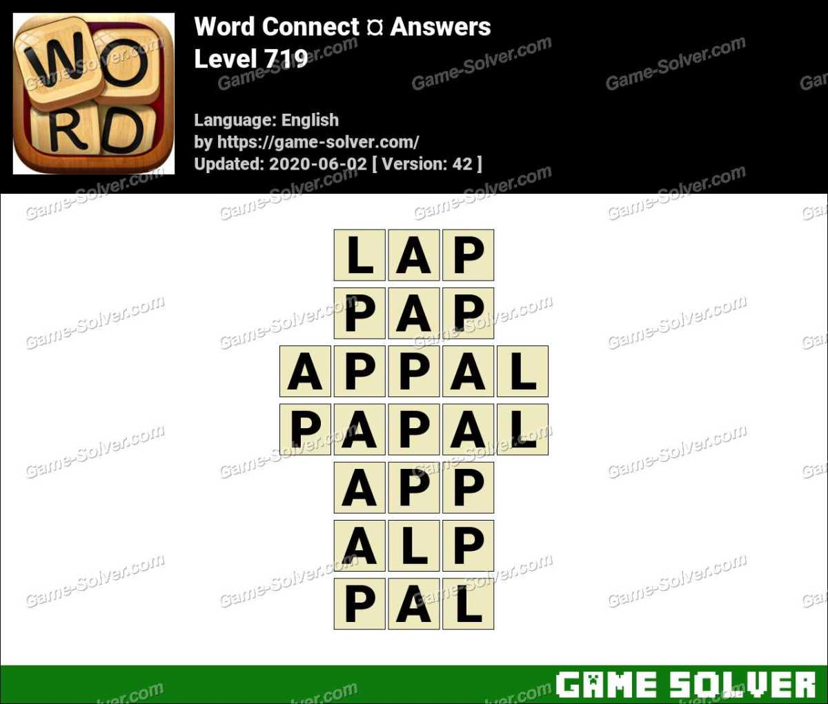 Word Connect Level 719 Answers