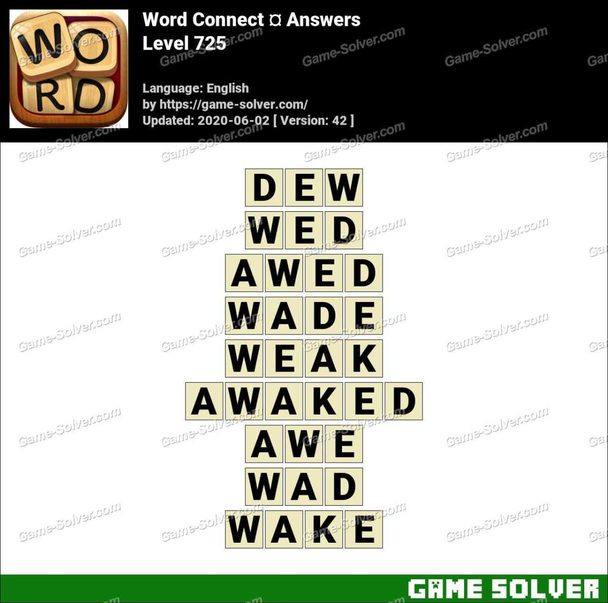 Word Connect Level 725 Answers