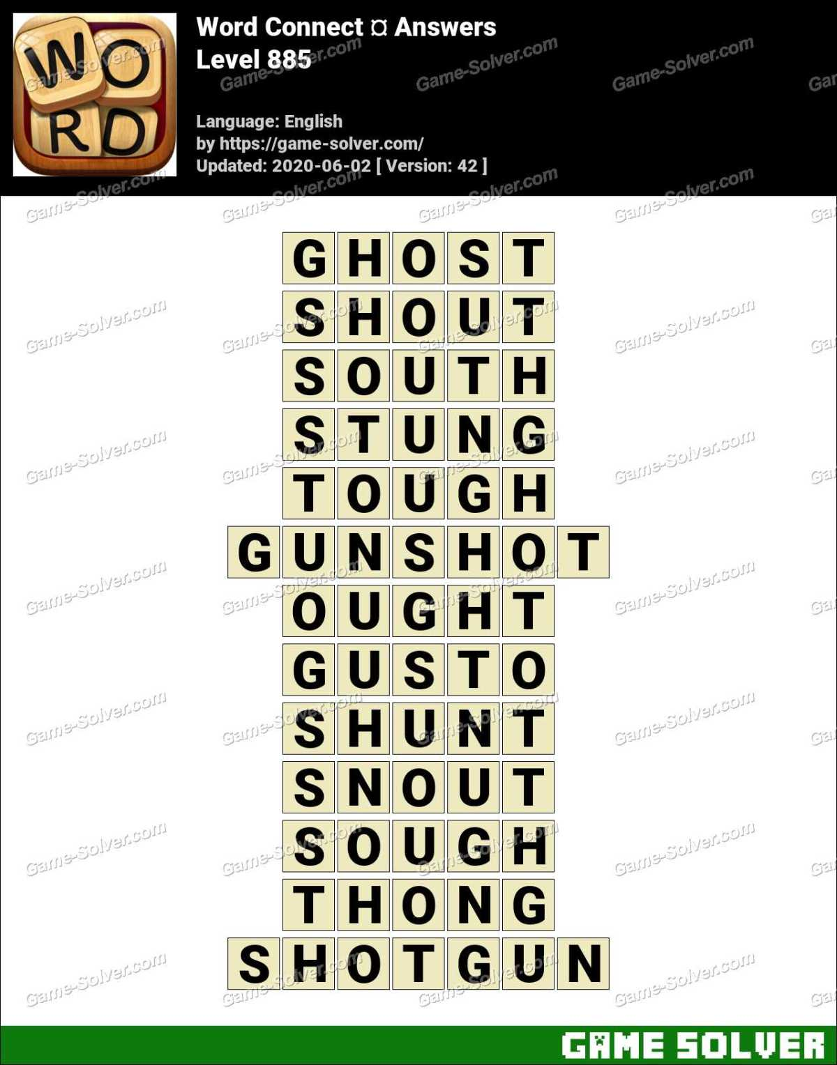 Word Connect Level 885 Answers