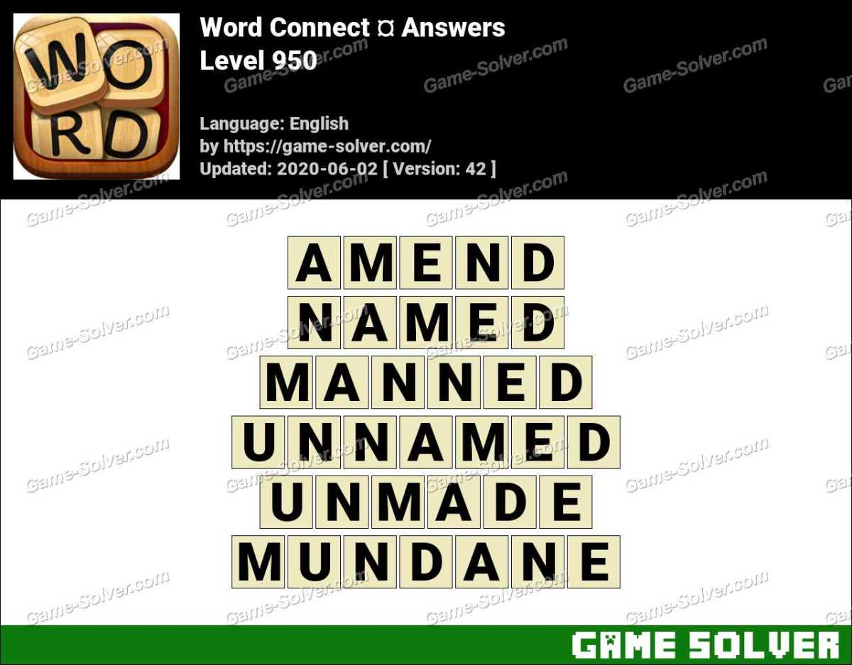 Word Connect Level 950 Answers