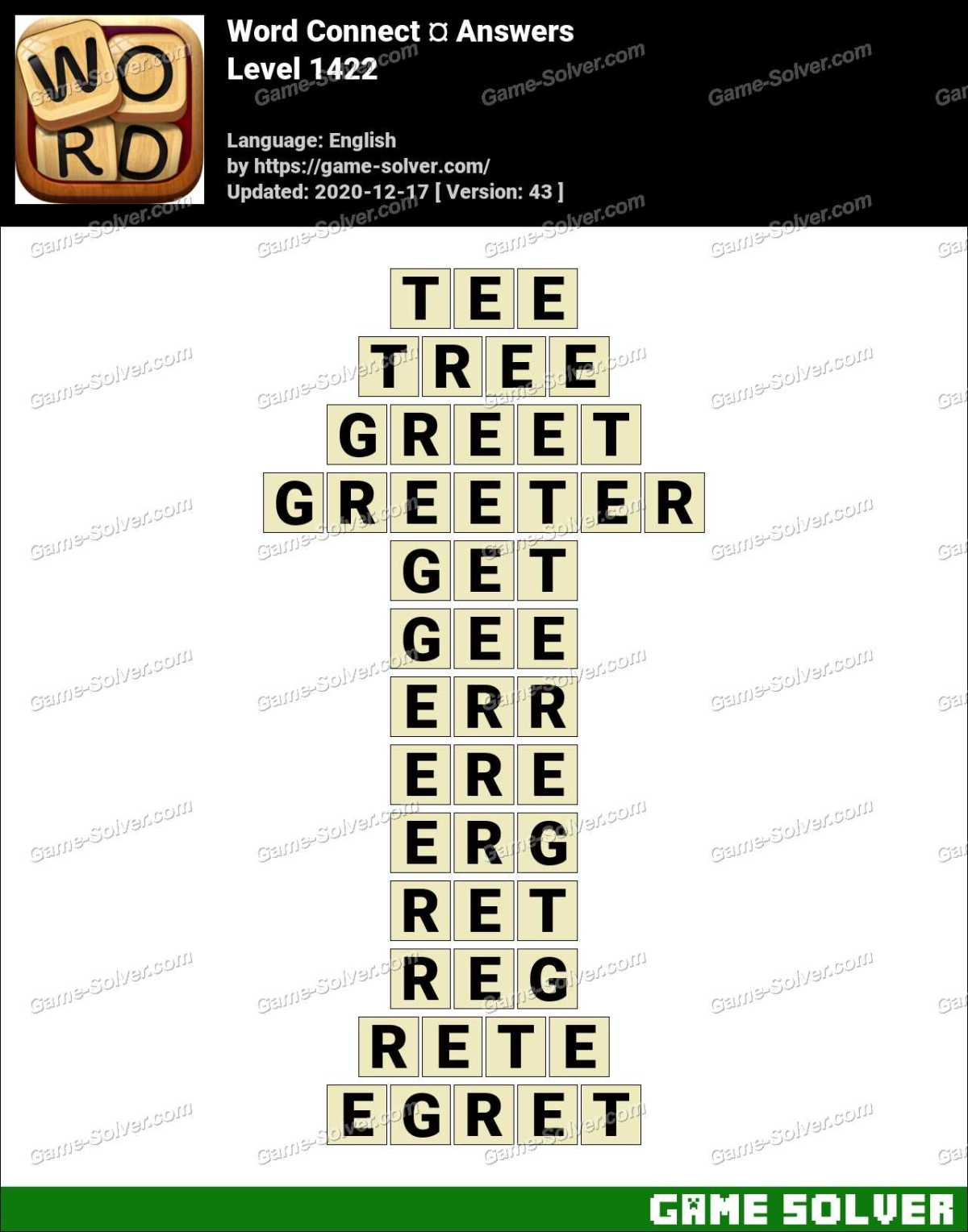Word Connect Level 1422 Answers