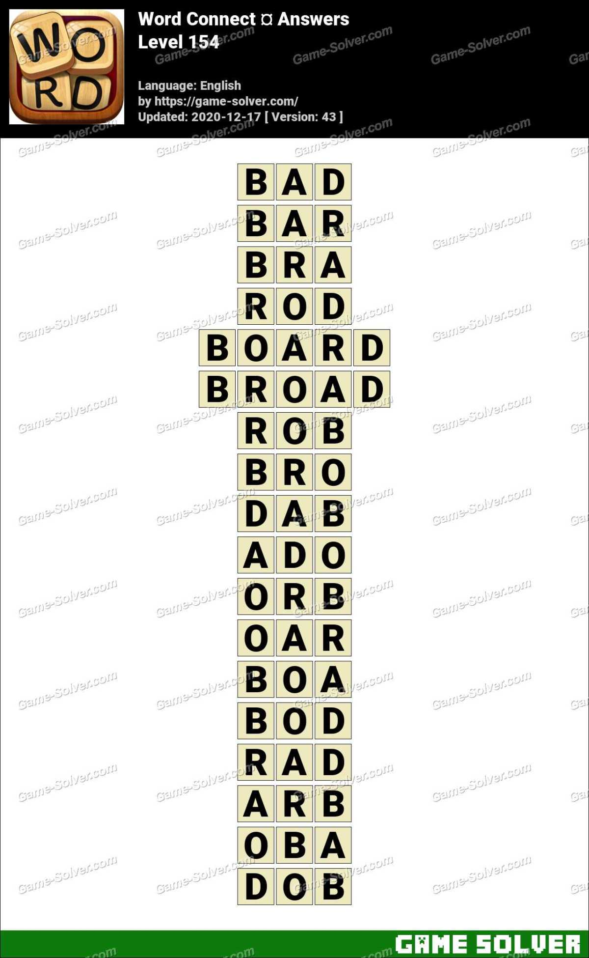 Word Connect Level 154 Answers
