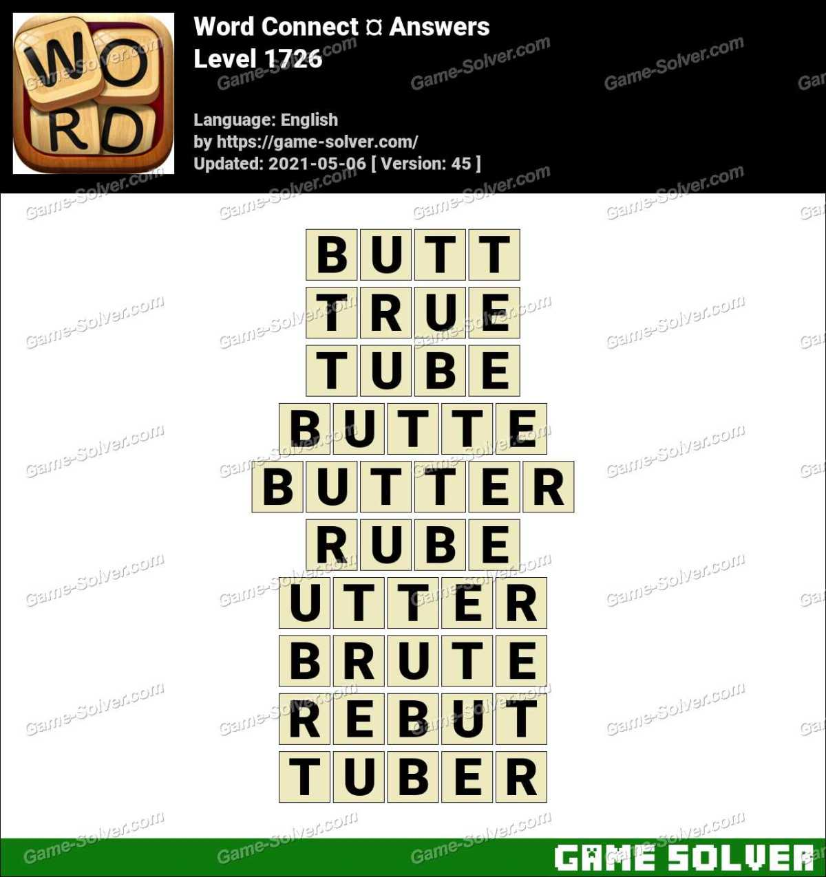Word Connect Level 1726 Answers