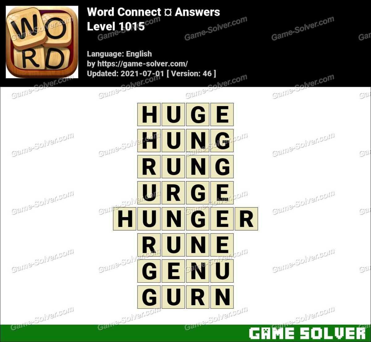 Word Connect Level 1015 Answers