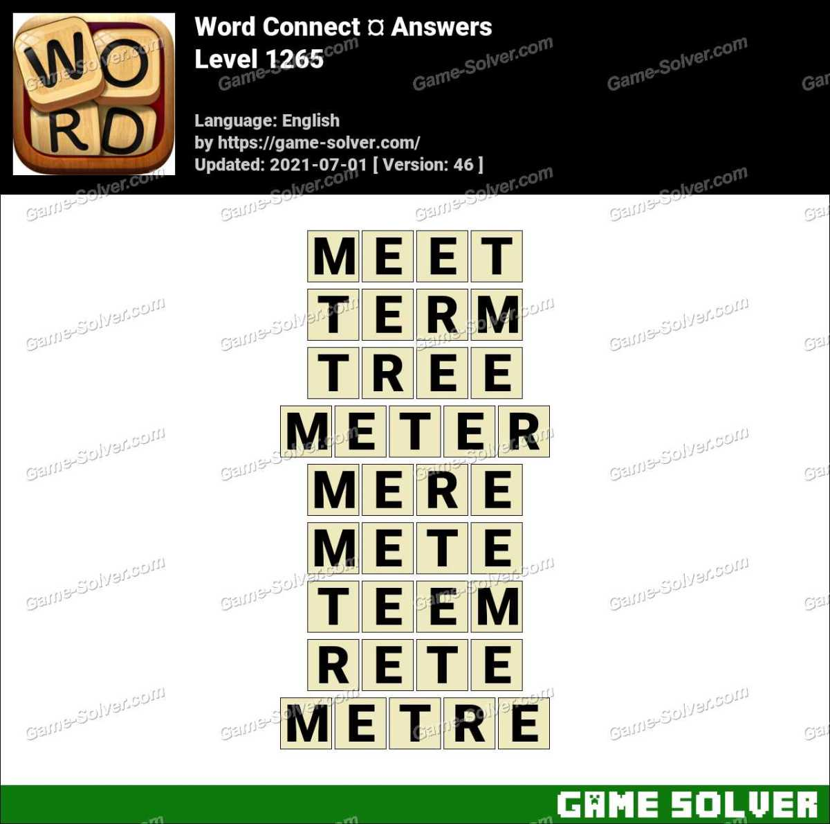 Word Connect Level 1265 Answers